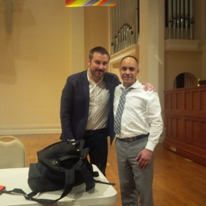 Jeremy Scahill & Messina May 2016, IMG_20160509_221214