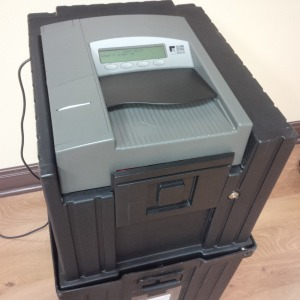 Model 100 optical scanner voting machine, ceres community center, ceres, california, 8 NOV 2016